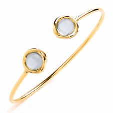 Pulseras de joyería con gemas plata