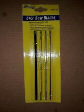 "COPING SAW REPLACEMENT BLADES 6 1/2"" WOOD PLASTIC FIBERGLASS METAL 4 blades"