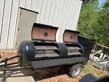 Start A Bbq Business Reverse Plate 8 Foot Smoker Trailer Night Gauges Food Truck