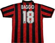 Maglia Baggio Milan 1995 1996 Lotto home Shirt Jersey L match worn? issue