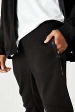 Factorie Mens Tech Track Pant Fleece Bottoms  In  Black