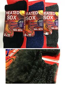 3Pairs Men Women THERMAL HEATED HEAT SOCKS Warm Winter Comfort Work Sox Ski BULK