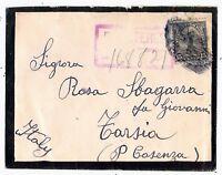 Stati Uniti - U.S.A. - 1925 - cent 15  su busta per l'Italia