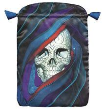 * Santa Muerte Skull Tarot Satin Bag Large Tarot Bag Wiccan Pagan Witch