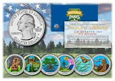 2020 2021 America The Beautiful COLORIZED Quarters Parks 6-Coin Set w/ Capsules