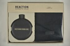 NEW MEN'S Kenneth Cole Reaction Flask Beanie Hat Gift Set Black $55 #84-15083
