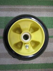 "John Deere 425 yellow 48"" & 54"" mower deck WHEEL add 2, 3 or 4 save on shipping"