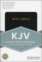 KJV Holy Bible Large Print Black Bonded Leather Cover King James Version NEW!