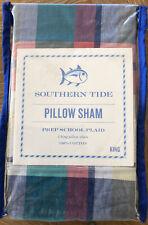 Southern Tide~ Prep School Plaid~One King Pillow Sham~New~100% Cotton~