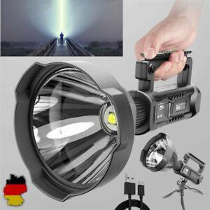 LED USB Handscheinwerfer Wiederaufladbar Camping Wasserdicht Suchscheinwerfer