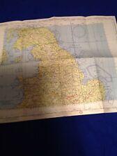 Antique Vintage USAF Air Force Chart Aeronautical Map 1955 Ireland Kingdom