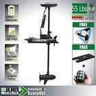 12V 55LBS Bow Mount Electric Trolling Motor Hand Control & Quick Release Bracket