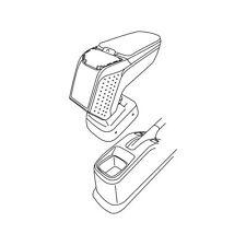 Bracciolo completo 5 funzioni - Nero - Fiat Sedici - Suzuki SX4