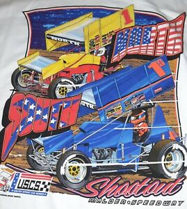 NEW! Vintage 2001 North South Shootout Large shirt USCS Sprints Malden Speedway