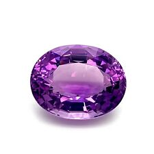 32.9ct Amethyst Natural, Oval from Uruguay, Untreated Natural Gemstone *Video*