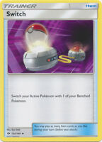 4x Pokemon TCG Sun & Moon Base Switch 132/149 Uncommon Trainer Card