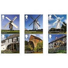 UK Windmills and Watermills Stamp Set MNH 2017