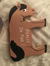 Really I'm Fine Horse Wall Art