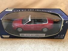 2004 Audi A4 Cabriolet 1/18 Red. Collectible Diecast, Motor Max