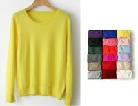 Long Sleeve Women Big Size Sweater Autumn Cashmere Standard Comfortable Pullover