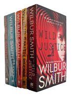 Wilbur Smith 5 Books Thriller Mystery Adventure Wild Justice Gold Mine + 3 New