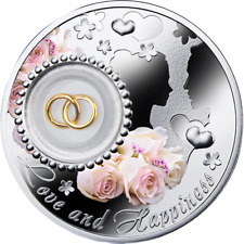Niue 2014 2$ Wedding coin LOVE AND HAPPINESS Proof Silver Coin