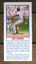 """Doc Gooden 5""""X11"""" Photo Placard Booklet Cover Cut Mint Oddball"""