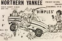 Postcard, Northern Yankee And Dimples Ford, Cartoon Vintage P09
