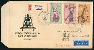 MayfairStamps Czechoslovakia 1969 Combo 3 Hnuti na Berounsku Cover wwo3331