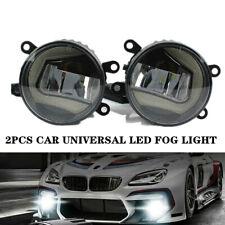 2X Universal LED Fog Lamp Angel Eye+Sun Light Front Bumper Lighting Clear Lens