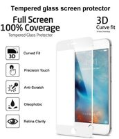 3D Curved Full Cover White Tempered Glass Screen Protector For New iPhone 8 Plus