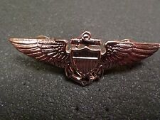 U.S MILITARY NAVY MARINE CORPS GOLD AVIATOR WINGS PIN DOUBLE CLUTCH BACK