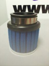 MOTORCYCLE CLAMP ON BLUE FOAM POWER AIR FILTER 35mm WITH CHROME CAP