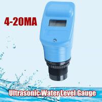 Pro Ultrasonic Water Liquid Level Transmitter Meter Gauge Sensor Indicator