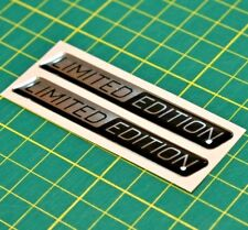 2x Limited Edition Domed Stickers - Raised High Gloss Finish