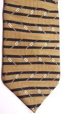"Bill Blass Neo Men's Silk Tie 59.5"" X 4"" Browns w/ Black Horizontal Stripes"