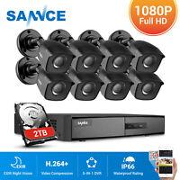 SANNCE 4CH 8CH DVR 1080P TVI 3000TVL Outdoor 2MP Video IR Security Camera System