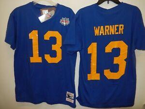 0205 Mitchell & Ness St Louis Rams KURT WARNER Super Bowl Football Jersey Shirt