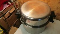 Saladmaster 18-8 Tri Clad Stainless Steel Kettle & Domed Cover 6 Qt