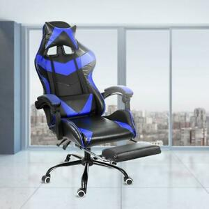 Leather Office Gaming Chair Home Internet Cafe Racing Lifting Computer Chair