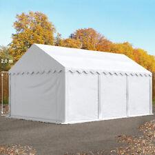 Lagerzelt 4x6m Weidezelt Zelthalle Unterstand mit Bodenrahmen PVC Zelt weiß NEU
