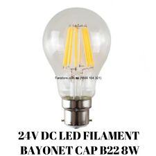 A60 B22 LED FILAMENT GLOBE 8W 2700K 24V DC (Non Dimmable)