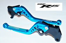 YAMAHA YZF R15 6 Position Adjustable Brake Clutch LONG Levers BLUE