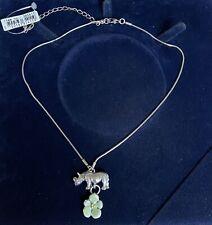Pilgrim Silver Rhinoceros Necklace