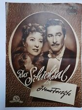 """Neue film programm-""""Das Schicksal der Irene Forsyte""""-Errol Flynn, Greer Garson."""