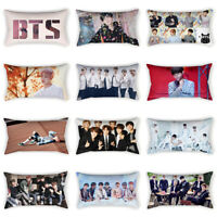 Home Decor Korean BTS Bangtan Boys Pillow Case Sofa Pillowcase Cushion Cover