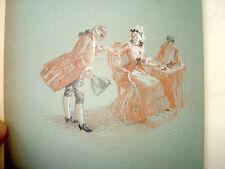Courte vie Aldramin   REGNIER illustré DEYGAS 1909 N° 12  DESSIN ORIGINAL Japon
