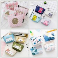 Ladies Girls Small Coin Pouch Credit Card & Key Ring Holder Wallet Purse Pouch
