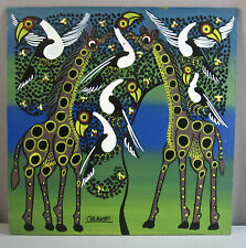 "TANZANIA TINGA TINGA ART__Acrylic on Board__12x12__Signed 'Chilambo""__SHIPS FREE"