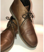 Alfani Lancer Chukka Shoes Mens Sz 12 M Brown Leather Lace Up Ankle Boots